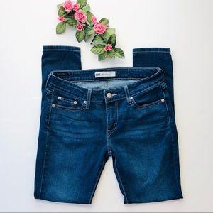 Levi's 535 Legging Skinny Dark Wash Blue Jeans 9M